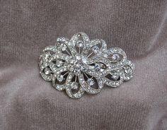 Rhinestone Bridal Barrette / Hair Clip / Wedding Hair by lyndahats, $25.00