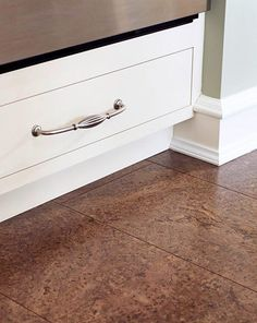 Sustainable Flooring Options greenclaimed® plank cork flooring gives cork floor the look of a