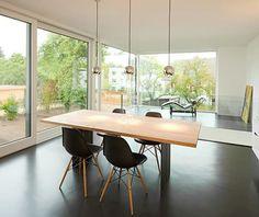 Zwischen-Raum Exterior Design, Interior And Exterior, Built In Furniture, Wooden Stairs, Home Technology, Parquet Flooring, New Construction, Second Floor, Ground Floor