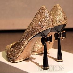 Fashion Shinning Prom Shoes with Bowknot Prom Shoes