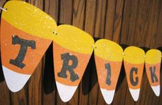 Candy Corn Garland- free printables