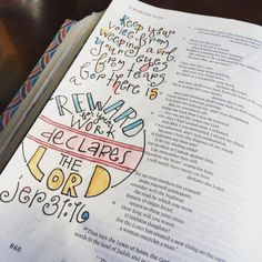 For there is a reward for your work declares the Lord. Bible Art, Bible Verses, Bible Journal, Journal Art, Art Journaling, Faith Bible, Illustrated Faith, New Words, Journal Inspiration