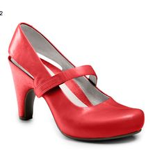 Tsubo red pump. $130 http://www.tsubo.com/womens-acrea-mary-jane-high-heels/8272,default,pd.html?dwvar_8272_color=DKCL&start=2&cgid=women-new-arrivals    And I'm done pinning shoes now. Really.