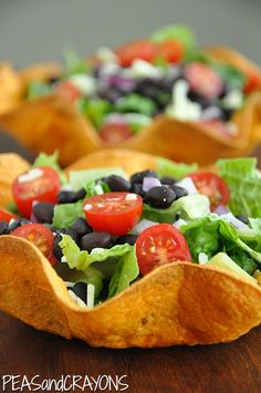 taco salad from peas and crayons