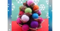 Christmas crafts - pine cone trees #christmas #ChristmasCrafts #ChristmasCraftsForKids
