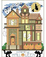Happy Halloween House free chart from Kooler Design Studio