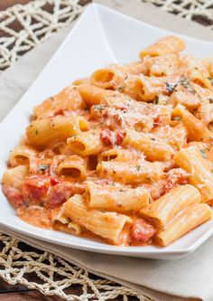 Rigatoni in Blush Sauce with Chicken and Bacon - Jo Cooks