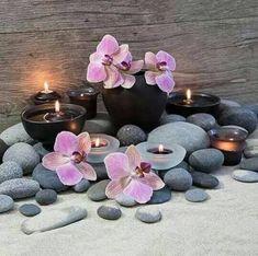 New bath room spa zen candles Ideas Feng Shui, Massage Room, Spa Massage, Spa Design, Home Design, Zen Space, Zen Room, Stone Massage, Spa Rooms