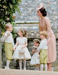 The Cambridges : 5/20/2017  Pippas Wedding & Kate with her beautiful children!  God Bless them all!  (: