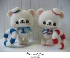 【miruco jun】Feltneedle wool #cute #kawaii #doll #handmade #felt #figure