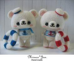 【miruco jun】Feltneedle wool #cute #kawaii #doll #handmade #felt #figure