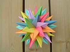 Origami TUVWXYZ Star ✫ ( 3D Stern )