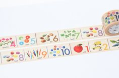 This beautiful washi tape would be an excellent, inexpensive and removable way to decorate a child's room.