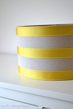 Ribbon lampshade - For the Tall Silver Lamp?