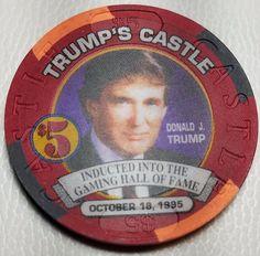 1996 TRUMP'S CASTLE CASINO CHIP $5 Atlantic City, New Jersey-TRUMP PHOTO LIMITED