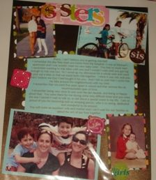 bachelorette scrapbook gift from bridesmaids to the bride! a page from each of you with memories and or pics !