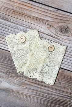 Champagne Lace Boot Cuffs