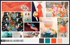 Lizzy B Loves visual + sparkle = inspiration : Warm Fall Hacienda Hues #wedding_inspiration #wedding_color_palette #color_palette_inspiration