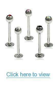 16 Gauge Gem Labret Multicolor 5-Pack #Gauge #Gem #Labret #Multicolor #5_Pack