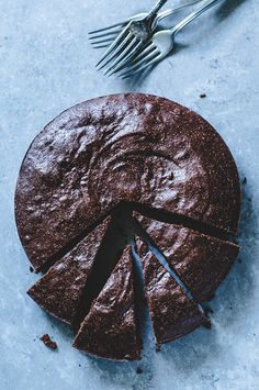 chocolate and almond butter cake