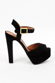 Bamboo Senza 06 Black Ankle Strap Heels at LuLus.com!