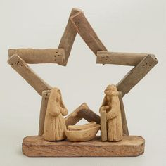 Driftwood Star Nativity Scene,  4-Piece