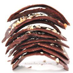Tejas de chocolate y almendra