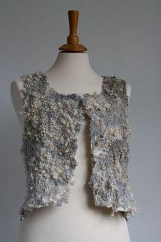 .Grey shaggy vest - very light