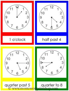 Teaching kids how to tell time - Carrots are orange