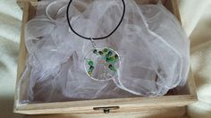 Tree of life wire pendant with beads