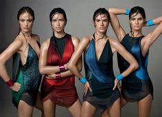 Raquel Zimmermann, Adriana Lima, Alessandra Ambrosio, and Isabeli Fontana