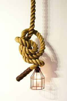 Unique climbing rope light by Atelier 688