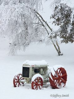 Winter Snow on the Farm