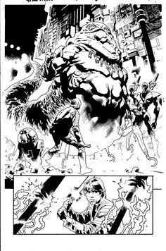 Star Wars - Jabba the Hut and Luke Skywalker by Stuart Immonen, inks by Wade Von Grawbadger * Comic Book Pages, Comic Page, Comic Book Artists, Comic Artist, Comic Books Art, Star Wars Concept Art, Star Wars Art, Storyboard, Stuart Immonen