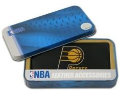 Indiana Pacers Embroidered Leather Checkbook Cover