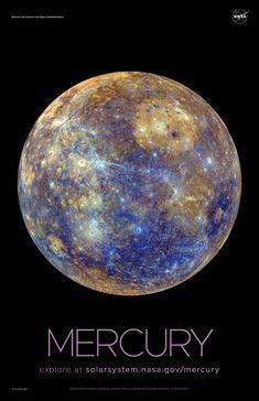 Mercury Poster - Version A | NASA Solar System Exploration