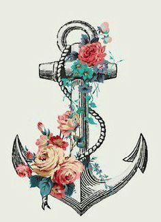 Floral anchor - tattoo idea