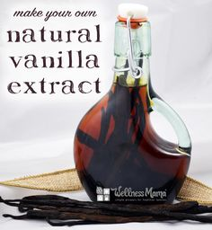 Make this homemade vanilla extract with natural ingredients like whole vanilla beans, non-GMO or organic alcohol, time and love.