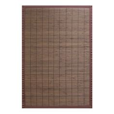 2' x 3' Villager Coffee Bamboo Rug