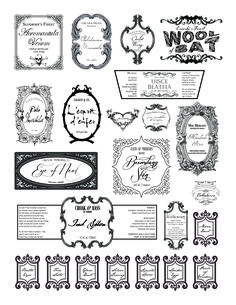 Bubble, Bubble, Toil and Trouble – A (Belated) Halloween Potion Bottles Tutorial Harry Potter Potion Labels, Harry Potter Printables, Harry Potter Fiesta, Free Label Templates, Halloween Potion Bottles, Toil And Trouble, Halloween Quotes, Spooky Halloween, Halloween Crafts