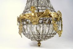 French Crystal and Bronze Chandelier  So 'Chic' So