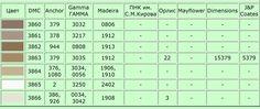 Таблица соответствия цветов ниток мулине | 48 фотографий