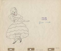 Production Drawing Of Little Eva From Uncle Tom's Cabana