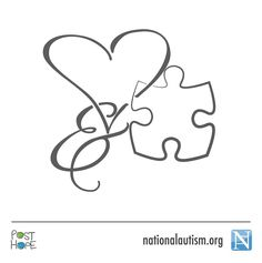 """Idea for Autism tattoo--with """"Sara Ann"""" and color!!!!                                                                                                                                                                                 More"""