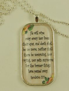 Religious Bible Verse Scripture Jewelry by DesignsofFaithandJoy,