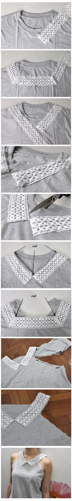 upcycle a plain old tee shirt