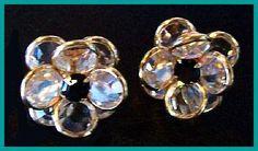 Crystal Black Rhinestone Earrings Layered by BrightgemsTreasures, $9.50