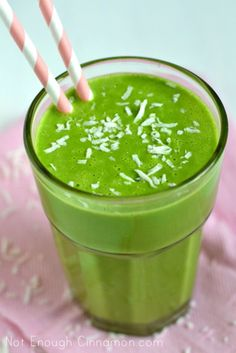 Coconut Pineapple Green Smoothie {Dairy Free}