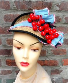 Millinery  Hand Made  Cherry Fascinator  by katherinecareyhats, $235.00