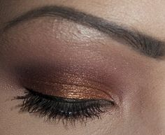 copper eyeshadow look, made by me